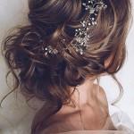 hajdíszes konty esküvői frizura