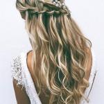 vízesés fonat esküvői frizura